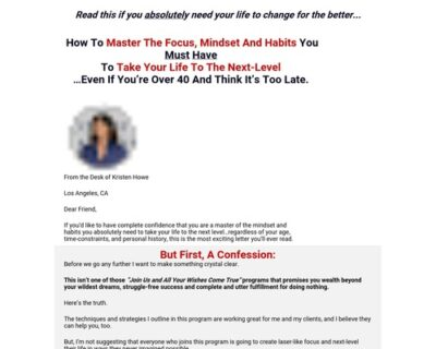 VIP Coaching with Kristen Howe The 'Go Big' Coach
