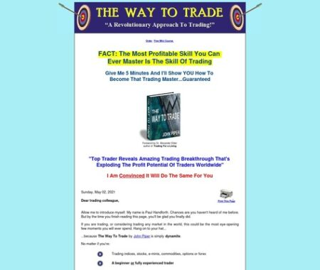The Way To Trade.